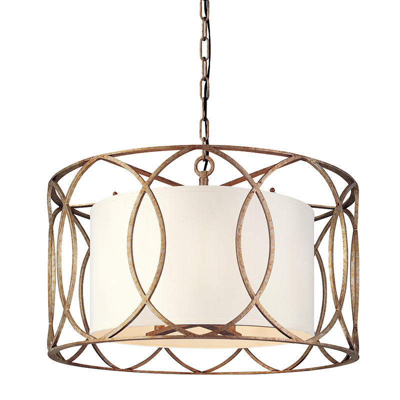 Silve Gold Sausalito 5 Light Chandelier