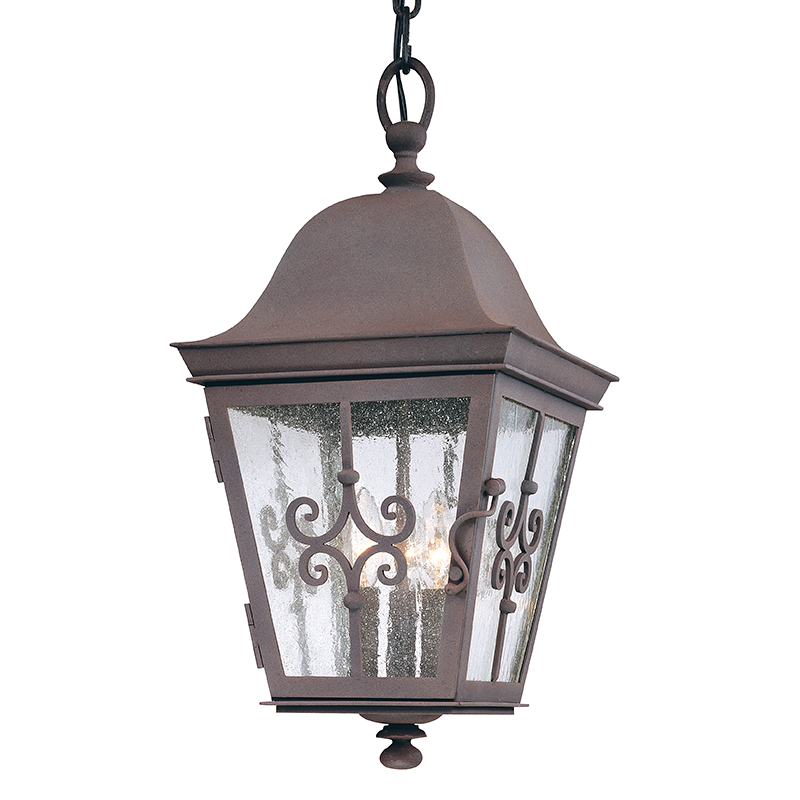 Outdoor Weathered Bronze Hanging Lantern