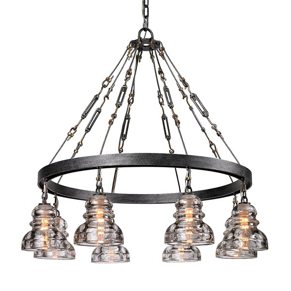 Menlo Park Old Silver 8 Light Chandelier