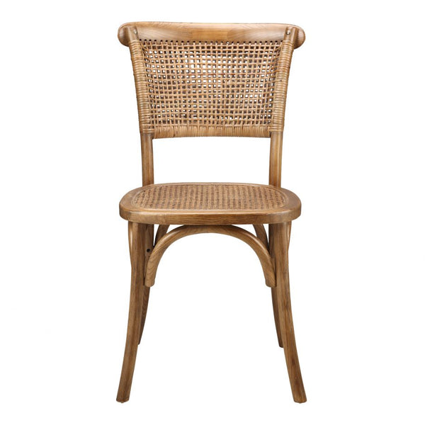 Elm and Rattan Dining Chair