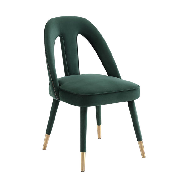 Forest Green Velvet Side Chair