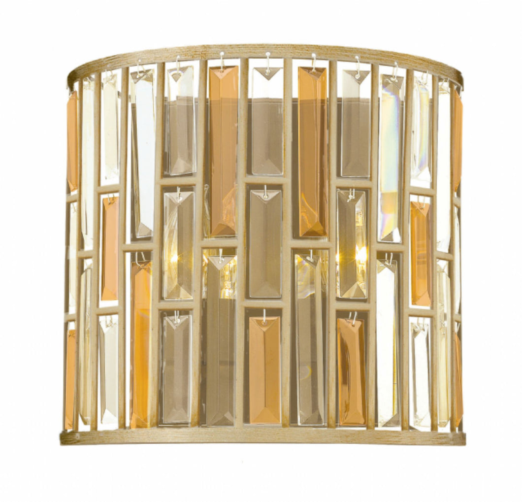 Silver Leaf Gemma Two Light Sconce