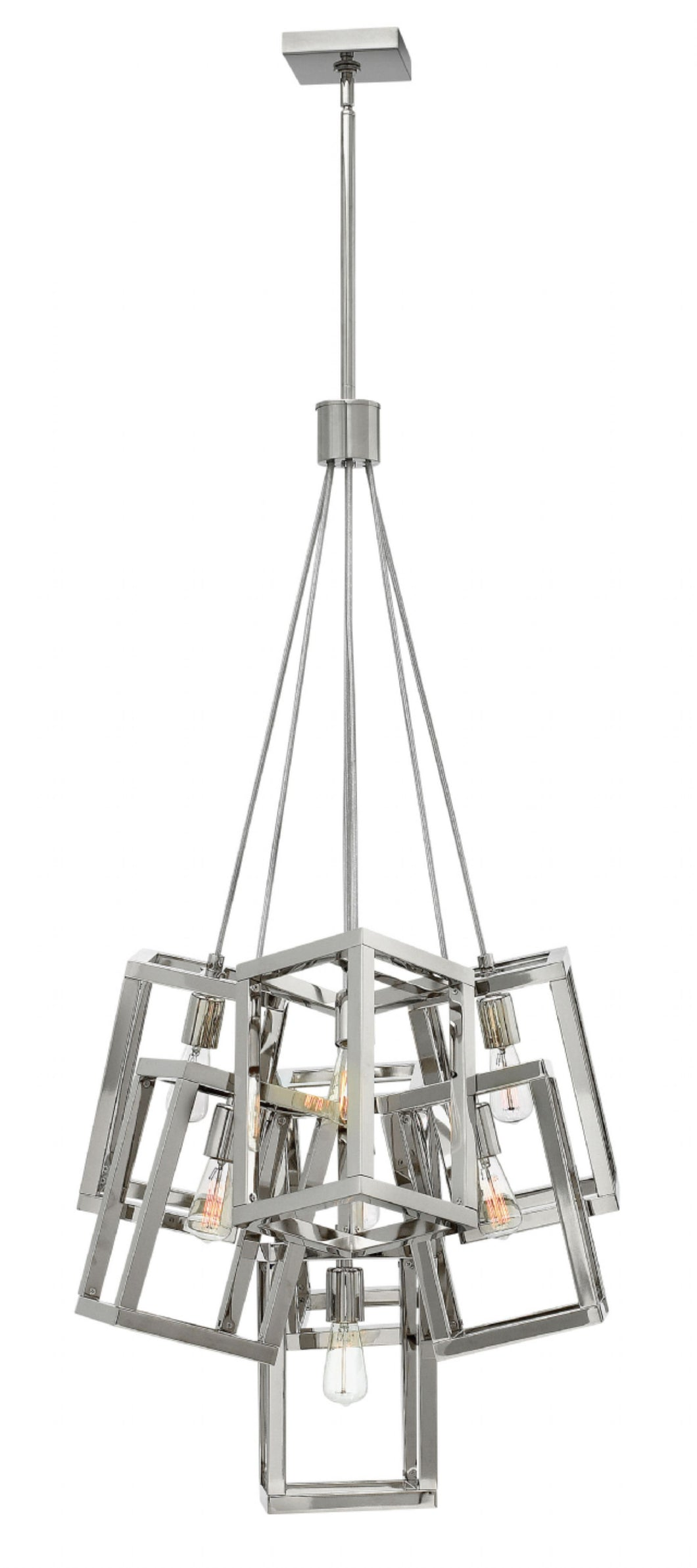 Polished Nickel Ensemble Foyer Pendant