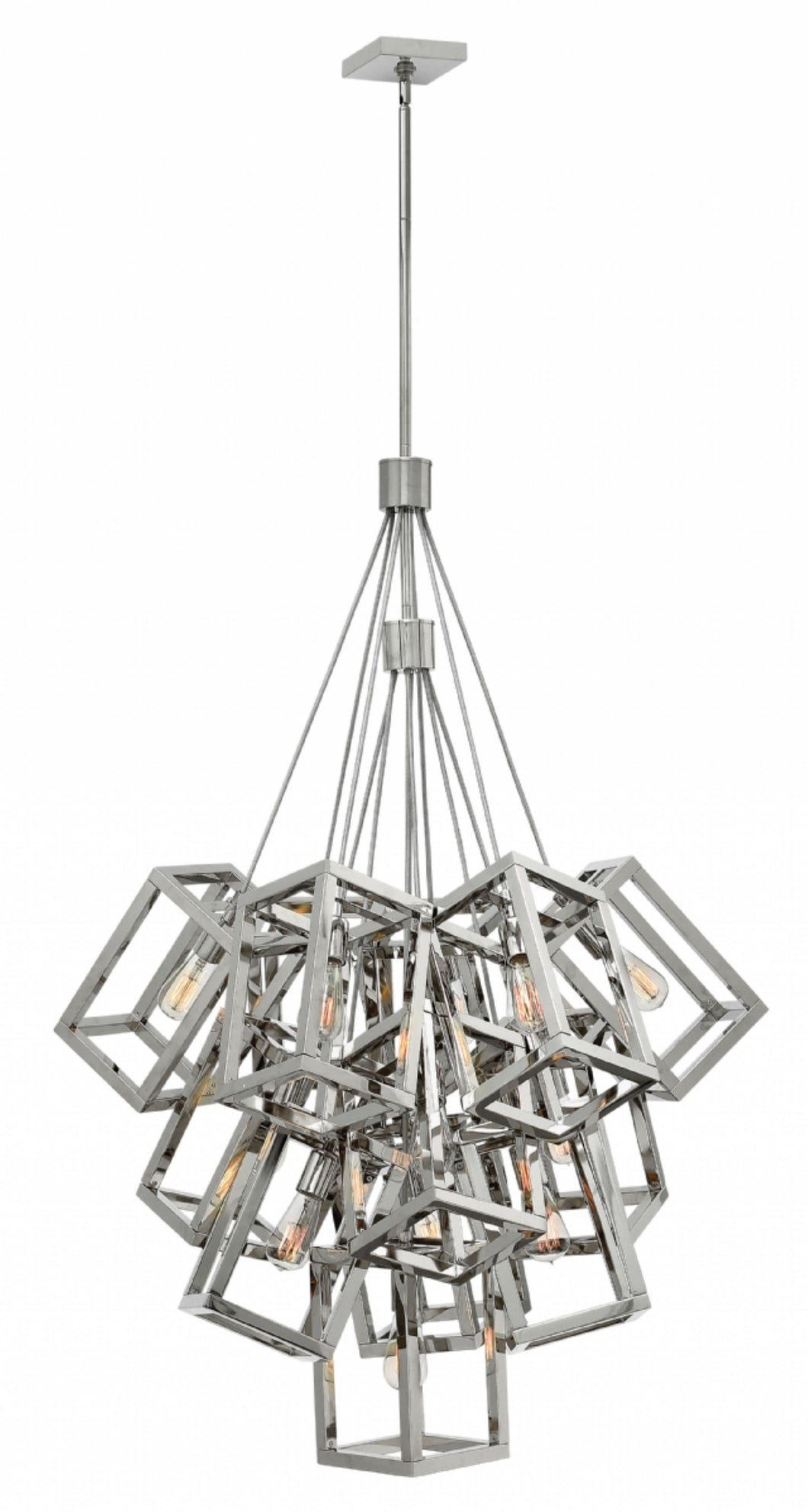 Polished Nickel Ensemble Large Foyer Pendant