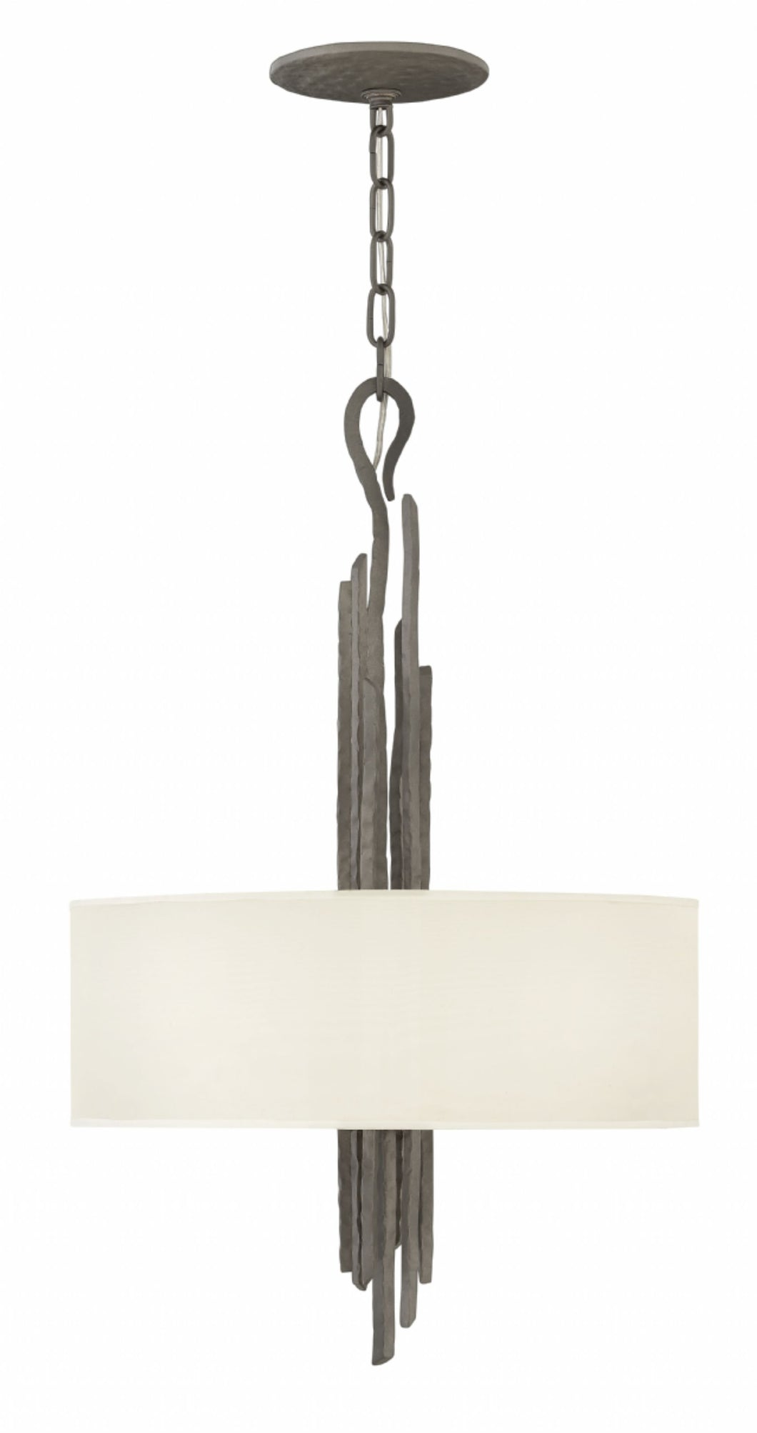 Metallic Matte Bronze Single Tier Pendant