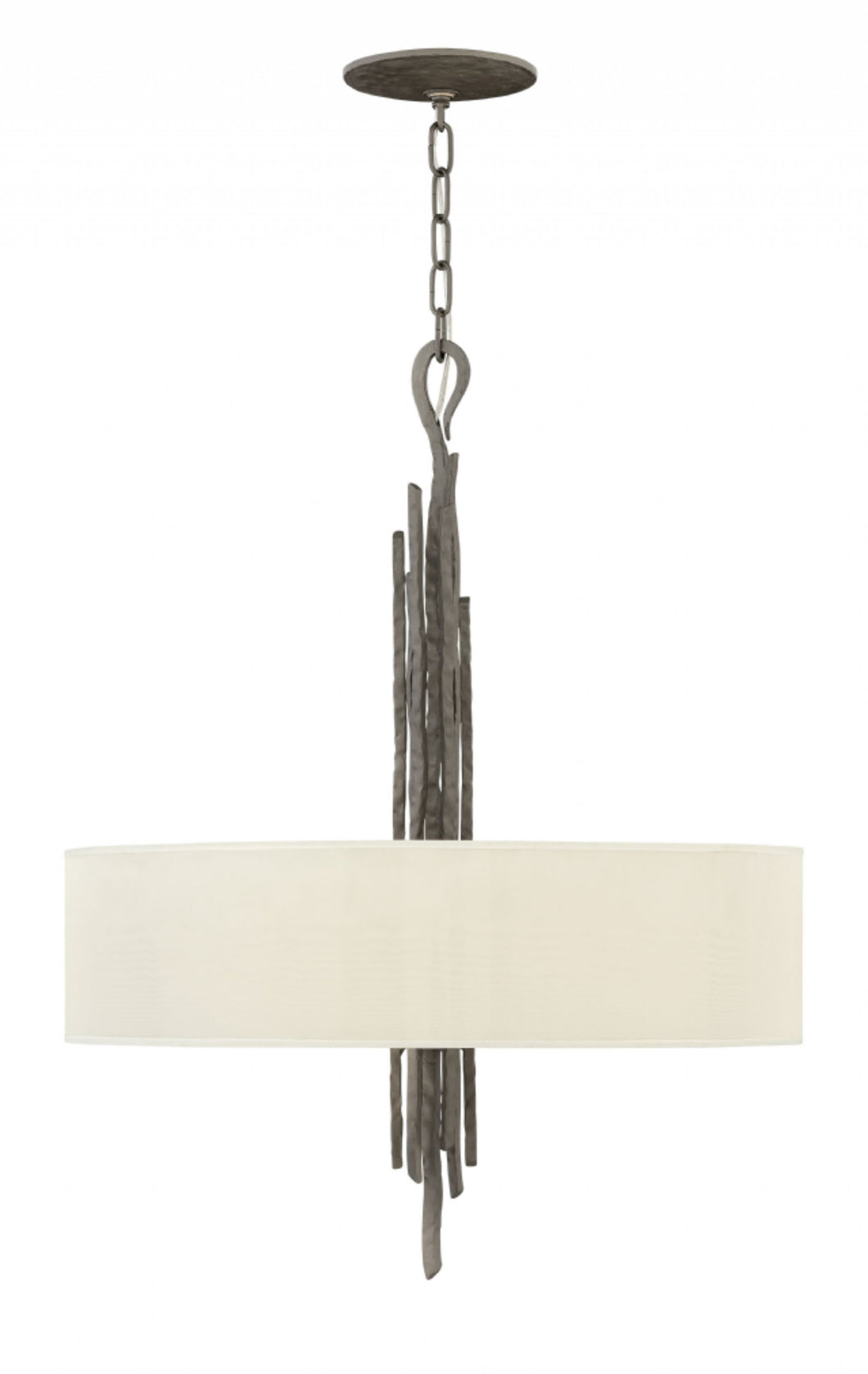 Metallic Matte Bronze Single Tier Chandelier