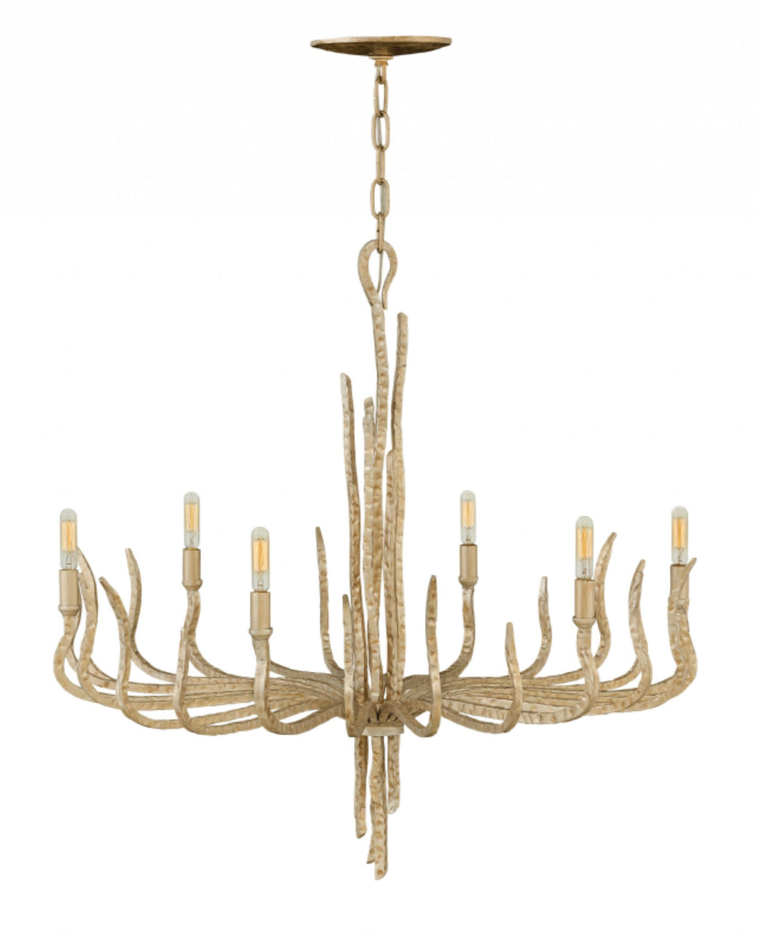 Champagne Gold Single Tier Chandelier