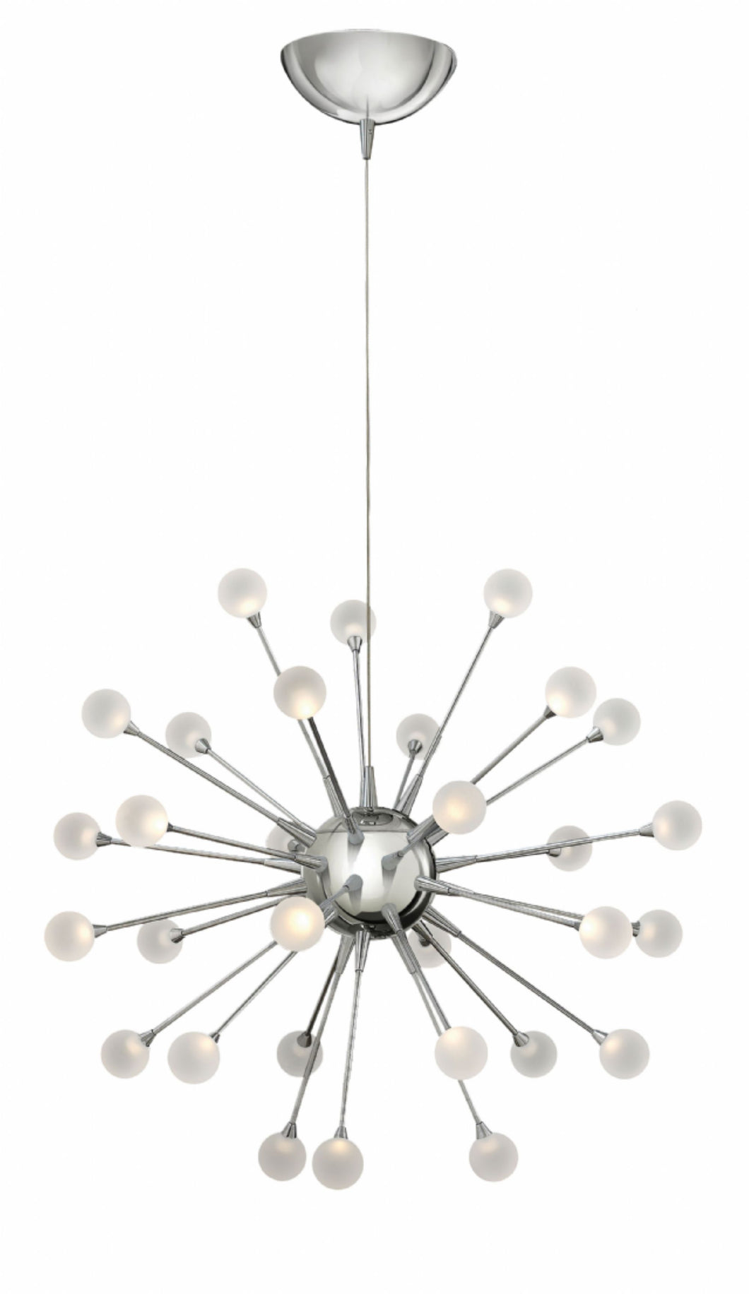Polished Chrome Single Tier Foyer Chandelier