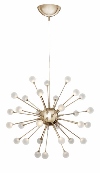 Polished Gold Single Tier Foyer Chandelier