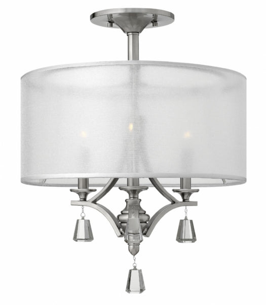 Silver Leaf Semi-flush Mount