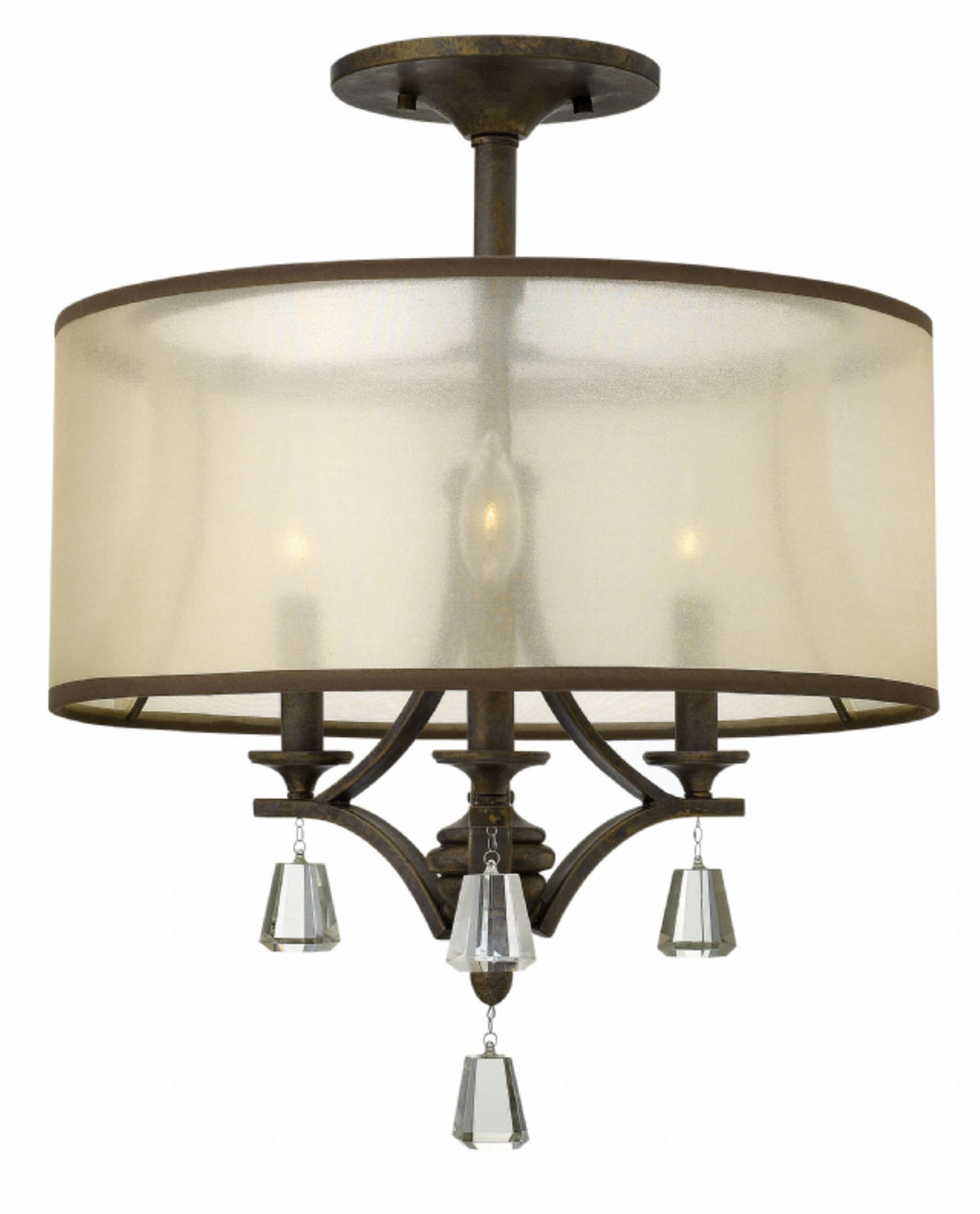 French Bronze Semi-flush Mount