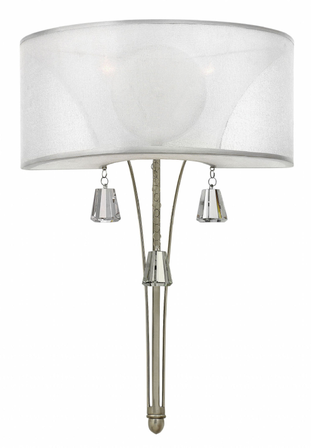 Silver Leaf Two Light Sconce