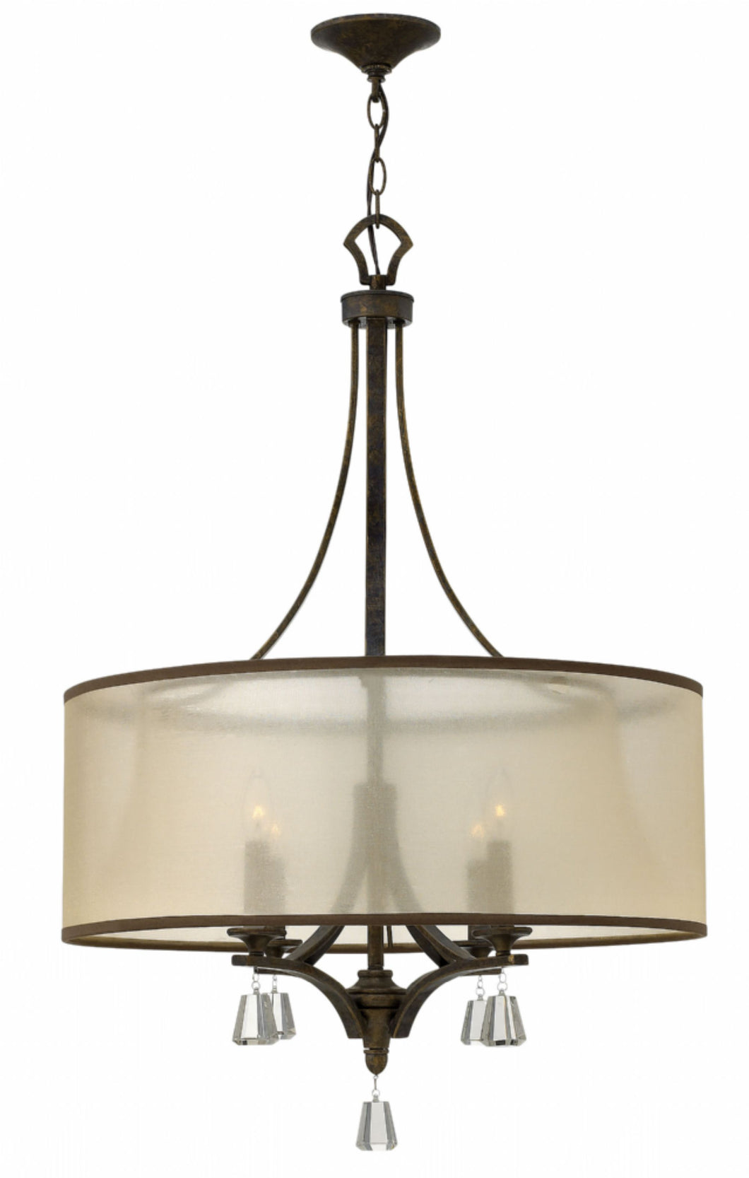French Bronze Single Tier Chandelier