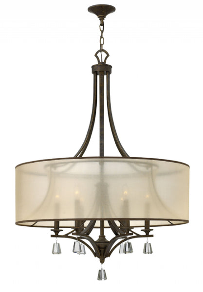 French Bronze Single Tier Foyer Chandelier