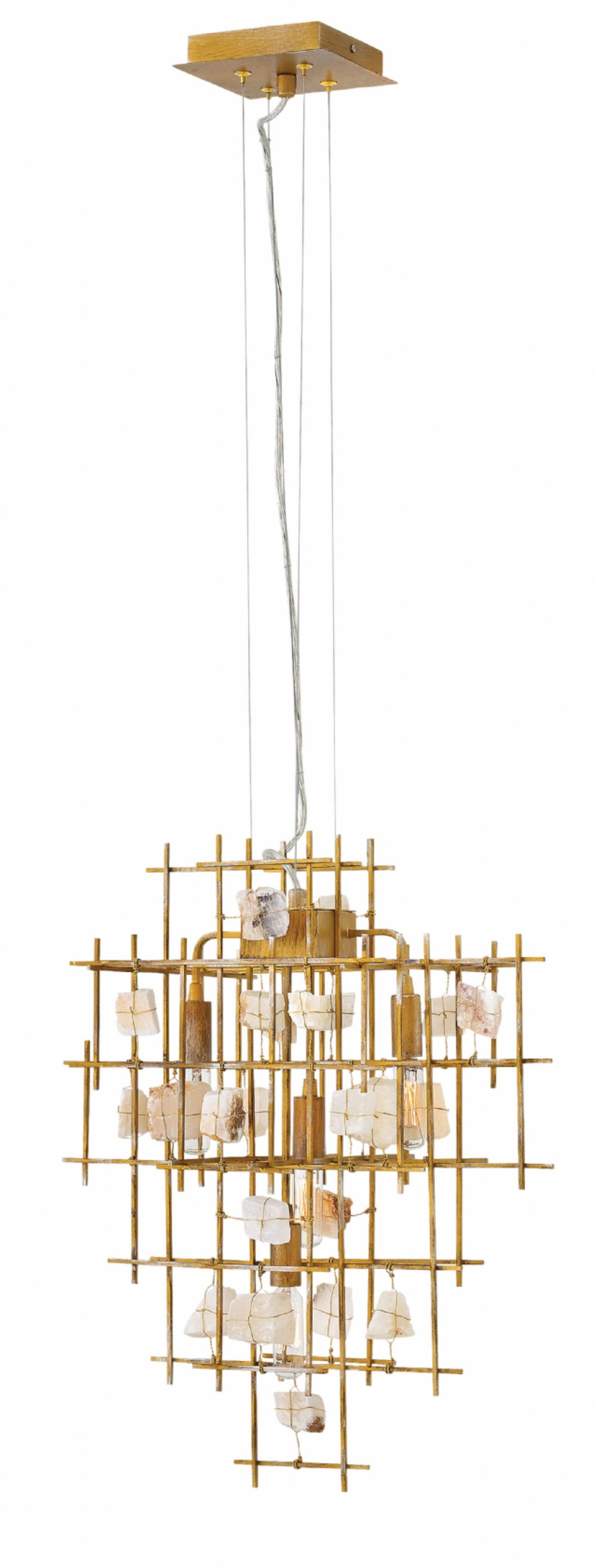 Luster Gold Single Tier Pendant