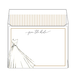 From the Bride Handpainted Wedding Gown Stationary