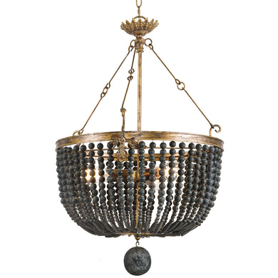 Fabian Wood Bead Chandelier