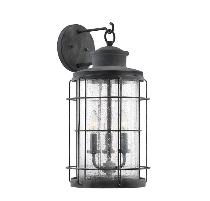 Fletcher 3 Light Outdoor Wall Lantern