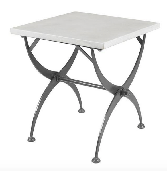 Folding Zinc Side Table