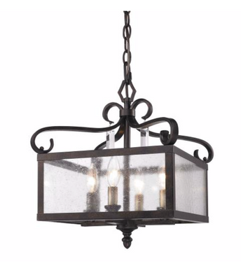 Four Light Convertible Semi-Flush Mount