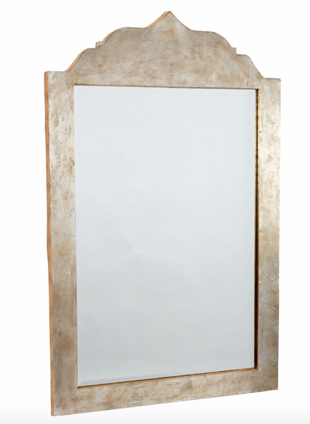 GOLD & SILVER LEAF METAL MIRROR