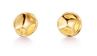 Gaia Studs - High Polish Gold