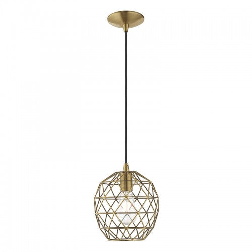 Geometric Shade Mini Pendants 1 Light Antique Brass Mini Pendant, Lighting, Laura of Pembroke