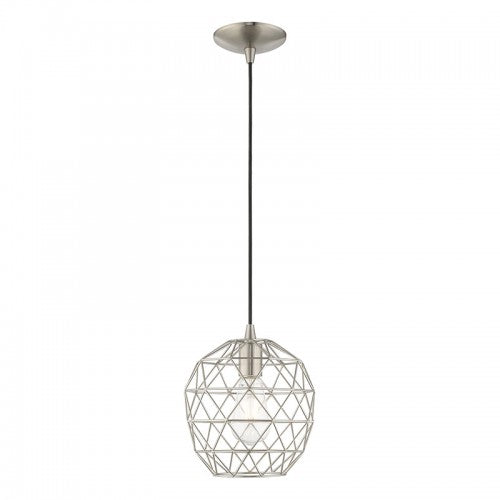 Geometric Shade Mini Pendants 1 Light Brushed Nickel Mini Pendant, Lighting, Laura of Pembroke
