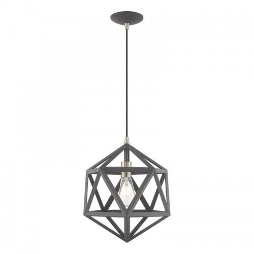 Geometric Shade Mini Pendants 1 Light Scandinavian Gray Mini Pendant, Lighting, Laura of Pembroke