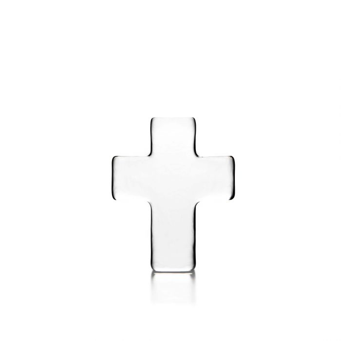 Glass Cross In A Gift Box