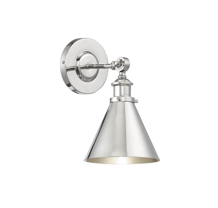 Glenn 1 Light Polished Nickel Wall Sconce