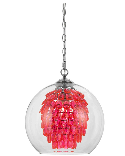 Glitzy Chandelier-Hot Pink