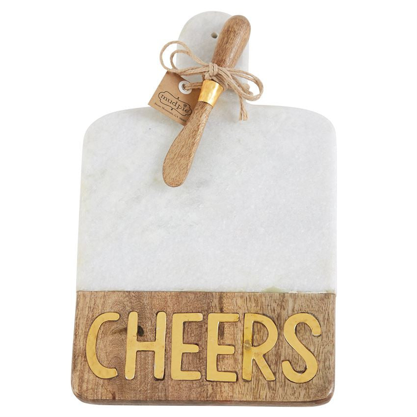 Gold Cheers Marble Board Set, Gifts, Mud Pie, Laura of Pembroke