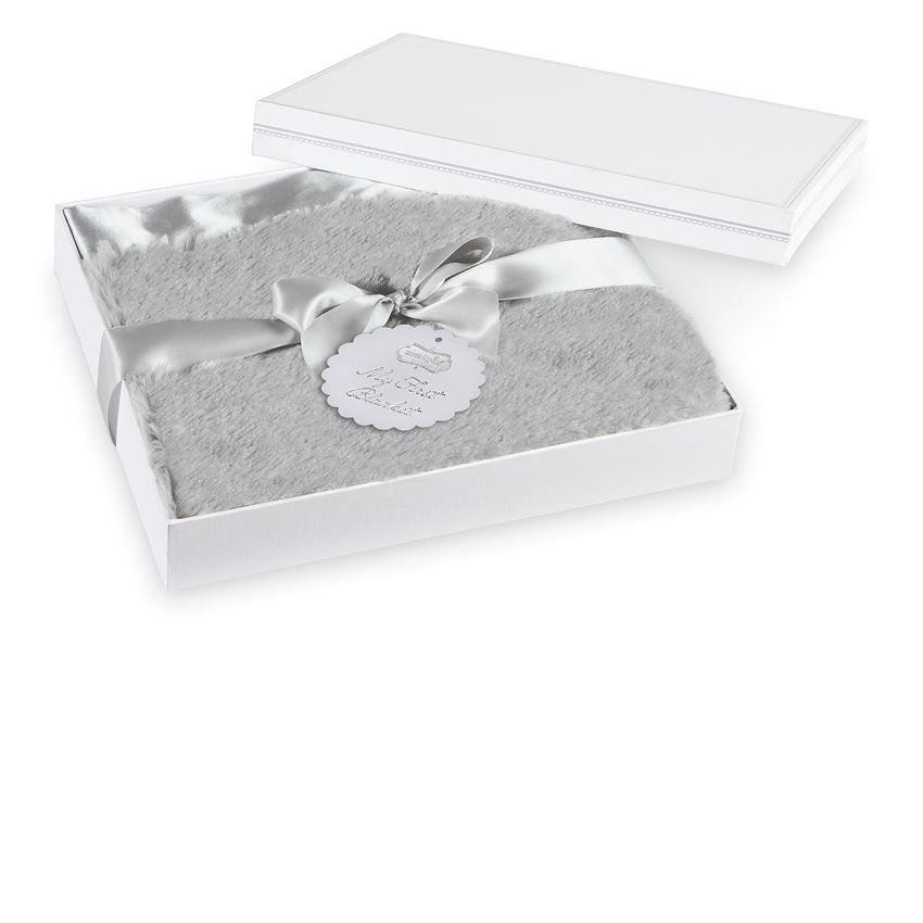 Gray Plush Blanket, Gifts, Mud Pie, Laura of Pembroke