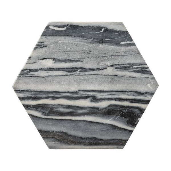 Grey Marble Hexagon Tray/Cutting Board