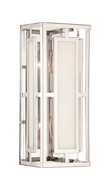 Hillcrest 2 Light Polished Nickel Wall Mount