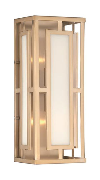 Hillcrest 2 Light Vibrant Gold Wall Mount