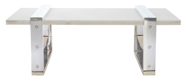 Acid Washed Crystal White Cocktail Table, Home Furnishings, Laura of Pembroke