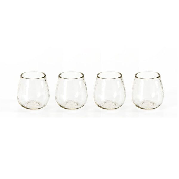 Hammered Stemless All Purpose Glass