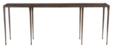 Hammered Iron Console Table