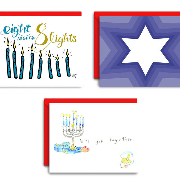 Hanukkah Wishes | Holiday Card Set