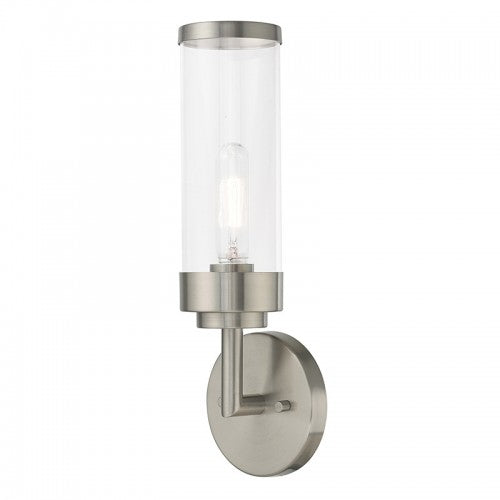 Hillcrest 1 Light Brushed Nickel Wall Sconce