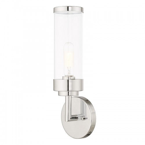 Hillcrest 1 Light Polished Chrome Wall Sconce, Lighting, Laura of Pembroke