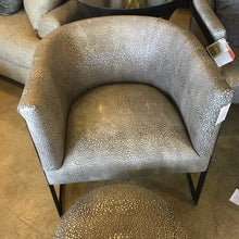 Leather + Metal Chair