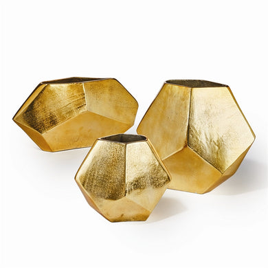 Gold Diamond Vase, Home Accessories, Laura of Pembroke