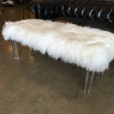 Mongolian Fur Bench, Home Furnishings, Laura of Pembroke