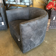 Quilted Leather Swivel Chair