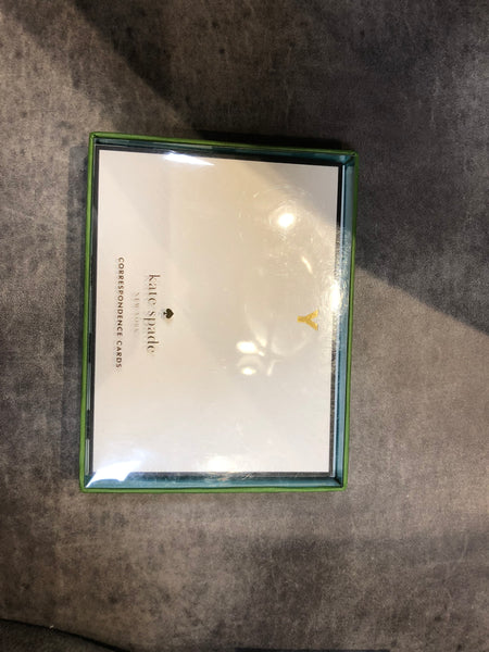 Kate Spade 'Y' Note Cards, Gifts, Laura of Pembroke