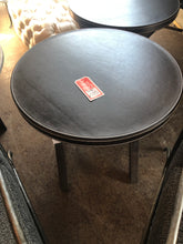 SALE - Round Leather Wrapped Top End Table