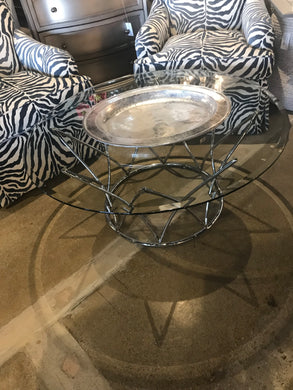 Glass Round Top Coffee Table